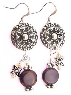 """Purple Rain"" - Earrings Kit. Create your own ""Purple Rain"" earrings with our kit which includes all beads, findings and components, plus detailed instructions with photos and diagrams. Your kit will arrive nicely packaged so it can be given as a gift! This is an intermediate level project. Shop here: http://www.happymangobeads.com/purplerain-earringskit.aspx #beads"