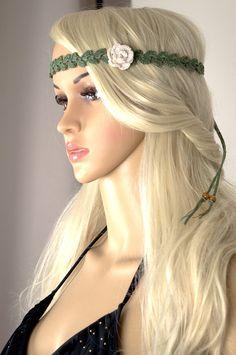Florales Stirnband, Boho, Festival Headpiece Floral Headpiece, Gypsy Headpiece…