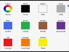 colours in czech Czech Republic, Colours, Words, Languages, Knight, Psychology, Trips, Europe, Study