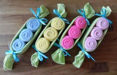 Baby Washcloth Pea Pod – Unique Baby Shower Gifts and Favors infant washcloth cute boy girl neutral