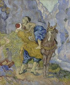 Van Gogh, The Good Samaritan (after Delacroix), early May 1890. Oil on canvas, 73 x 60 cm. Kröller-Müller Museum, Otterlo.