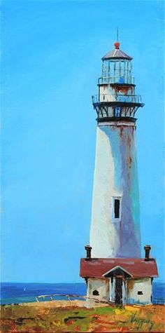 """Daily Paintworks - """"Lighthouse"""" by Marco Vazquez"""