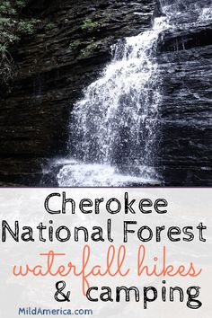 I had a great time hiking to two waterfalls and camping while visiting a small area within the Cherokee National forest in Tennessee.