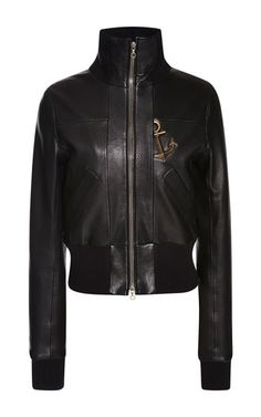 Anchor Detail Leather Jacket by ANTHONY VACCARELLO for Preorder on Moda Operandi