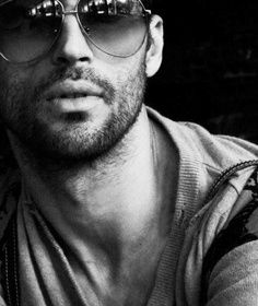 Men's Sunglasses - Shades - Portrait - Photography - Black and White