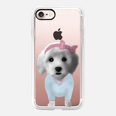 Casetify iPhone 7 Case and Other iPhone Covers - Cute Maltipoo Dog by Barruf / Casetify