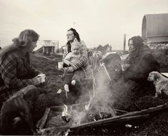 """""""Chris Killip Margaret, Rosie, and Val, Seacoal Camp, Lynemouth, Northumberland, 1983"""""""