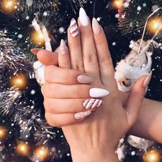 most popular trendy summer nails art designs ideas to look charming 10 ~ thereds.me Nails most popular trendy summer nails art designs ideas to look charming 10 ~ thereds.me Nails Aycrlic Nails, Xmas Nails, Holiday Nails, Nails Polish, Nail Nail, Coffin Nails, Cute Acrylic Nails, Cute Nails, Pretty Nails
