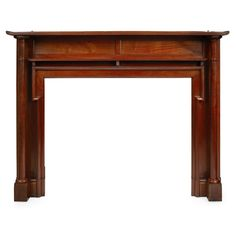 MANNER OF THOMAS JECKYLL AESTHETIC MOVEMENT MAHOGANY MANTELPIECE, CIRCA 1880 the reeded mantle shelf above panelled frieze and jambs with turned columns 196cm wide, 154cm high, 23cm deep