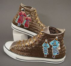 "deluxvivens: Beaded high tops by Teri Greeves. When ""native inspired"" fashion has this level of quality and detail? I'll start snarking less."