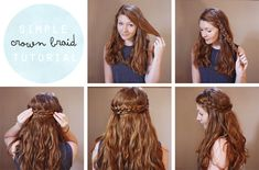 Simple Crown Braid Tutorial