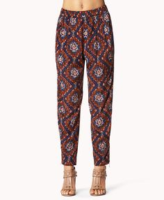 $22.80 - Ikat Satin Trousers | FOREVER21 - 2060562191