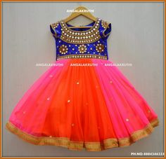 Kids frock desings with Rich Mirror work embroidery kids party wear designs custom designs for kids birthday party wear designs Kids Dress Wear, Kids Gown, Baby Dress, Kids Wear, Long Frocks For Girls, Dresses Kids Girl, Kids Outfits, Party Wear Frocks Designs, Kids Frocks Design