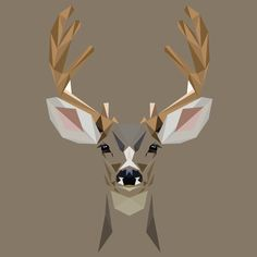 D is for Deer Print by Mat Mabe on Etsy