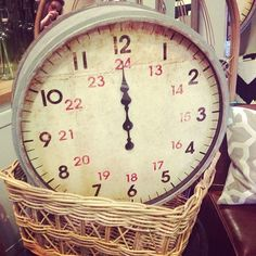 over size, industrial clock