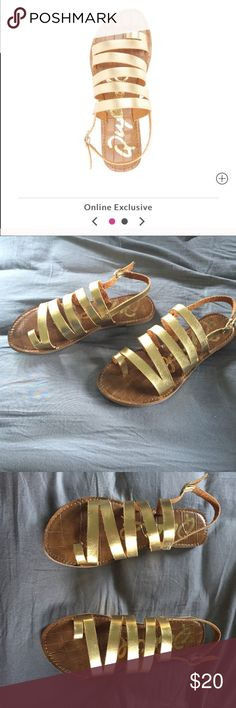 Brand new gold sandals Never worn gold sandals. Size 7 Charlotte Russe Shoes Sandals