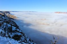 Grand Canyon before the fog lifted, south rim . 12-2-13