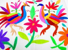 Mexican Otomi fabric tribal fabric by MexFabricSupplies on Etsy