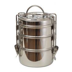 THE LUNCH BOX. Den äkta matbäraren från Indien! Smart, stilren och giftfri matlåda helt i rostfritt stål med bärhandtag och spännen för säker stängning. Perfekt till barnens matsäck, din lunchlåda på jobbet, snacks, picknick eller för att frysa in matrester. Avger ingen smak eller doft och utsöndrar inga gifter! Lådorna är lätta att rengöra och håller länge.