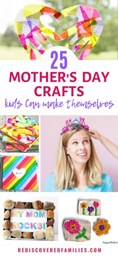 Need some easy Mother's Day crafts your kids can make themselves? We've collected the best DIY gifts. There's loads to choose from. Check out our ideas. Diy Gifts For Grandma, Diy Gifts For Friends, Diy Gifts For Boyfriend, Gifts For Teens, Parent Gifts, Diy Gifts Cheap, Easy Diy Gifts, Diy Gifts Videos, Footprint Art