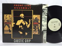 Front line Assembly Caustic Grip Original Wax Trax 1990 LP Rare Ministry Synth