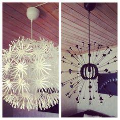 Ikeas maskroslampa, gjorde en makeover med sprayfärg!