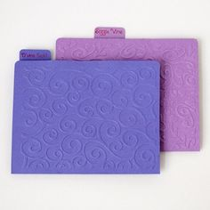 Make these folders from free svg files to store your Cuttlebug and Sizzix embossing folders.