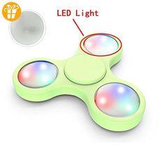 LED-Licht für Fidget Hand Spinner,KIMODO Torqbar Fidget Hand Spinner Finger Spielzeug EDC Focus Gyro LED Lichter(2.2 * 2.2 * 0.7cm,weiß) - Fidget spinner (*Partner-Link)
