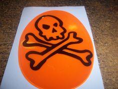 Skull & Bones Reflector Sticker