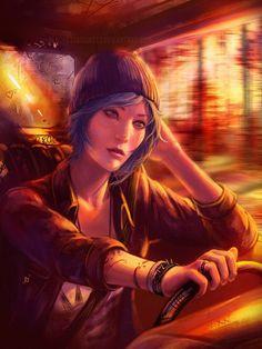 Image via We Heart It https://weheartit.com/entry/193571963 #bluehair #game #cloe #thelifeisstrange