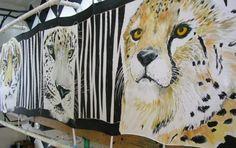 JUNGLE CATS Silk Wrap 22x90 by SilkSiren on Etsy