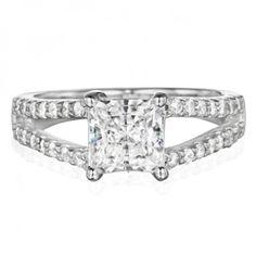 Princess Cut #Diamond Engagement Ring