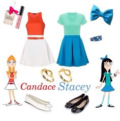 DisneyBound: Candace and Stacy from Phineas and Ferb
