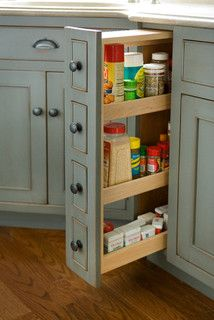 Pantry Cabinet - traditional - kitchen cabinets - boston - Heartwood Kitchen and Bath Cabinetry Traditional Kitchen Cabinets, Small Kitchen Cabinets, Kitchen Redo, Kitchen Pantry, Kitchen And Bath, New Kitchen, Kitchen Ideas, Vintage Kitchen, 1960s Kitchen