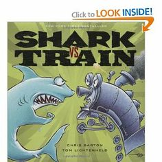 Shark vs Train... the little boys enjoyed this book. Who would win out? Wasn't as good for reading aloud, but fun use of text and pictures.