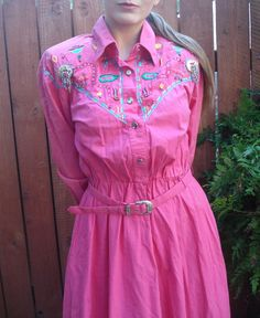 1980s Side Saddle Deadstock / Pink Western Swing by AzimuthVintage, $85.00