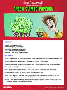 Free Hotel Transylvania 2 Printable Activities and Recipes – SKGaleana Halloween Movie Night, Halloween Food For Party, Halloween Birthday, Halloween Treats, Birthday Ideas, 2nd Birthday, Happy Halloween, Halloween Dinner, Halloween Fashion