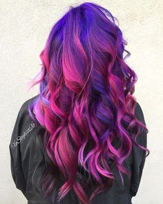 Purple Magenta Rain. ☔️ love this, maybe the purple and lime green? @xostylistxo