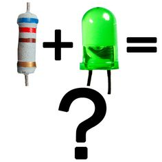 Baffled by resistors and LEDs? Grathio shows you how to choose the right resistor for your LEDs! Led Projects, Electrical Projects, Arduino Projects, Electronics Projects, Electronics Components, Electronic Engineering, Electrical Engineering, Electrical Wiring, Led Diy
