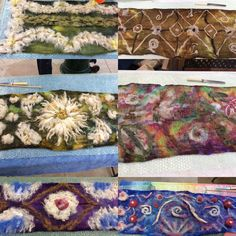Gorgeous Nuno felted scarves by participants at my on farm Felting Workshop - Nuno Felt Scarf, Alpacas, Nuno Felting, Scarves, Workshop, Tapestry, Decor, Scarfs, Hanging Tapestry