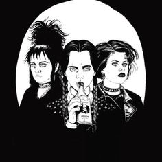 The Craft / #Beetlejuice / The Adams Family: Nancy Downs, Lydia Deetz, and Wednesday Adams t-shirt.