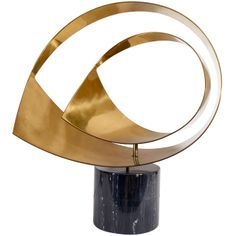 A Vintage Curtis Jere Brass and Marble Sculpture   1stdibs.com