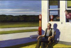 Edward Hopper Four Lane Road | 1956. Oil on canvas. 69,9 x 105,4 cm. Whitney Museum of American Art, New York.