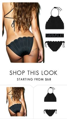 """""""Black Swimsuit"""" by mzdlyn ❤ liked on Polyvore featuring Margarita Mermaid and Marysia Swim"""