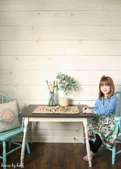 Modern Farmhouse Playroom Makeover via House by Hoff