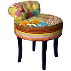 PATCHWORK - Shabby Chic Dressing Chair Stool / Wood Legs - Multicolouredcoloured null http://www.amazon.co.uk/dp/B009VIFNEK/ref=cm_sw_r_pi_dp_W-MKub1D65153