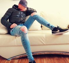 bangin' tight jeans, hoodies, sneakx & caps I wear Super Skinny Jeans, Skinny Pants, Skinny Legs, Slim Jeans, Ripped Jeans, Men's Jeans, Cool Jackets, Boys Jeans, Dope Outfits