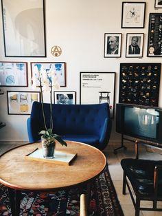 Small blue love seat | VSCO