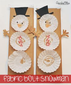 A fun little Coffee Filter Snowman to make with your kids this holiday season! They will love making it and can look at their snowman all winter long!
