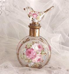 Pretty perfume bottle.